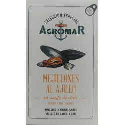 Mejillones al ajillo Agromar - Lata 114 gr.
