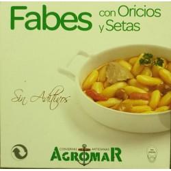 Fabes con Oricios y setas - Lata 420 gr.