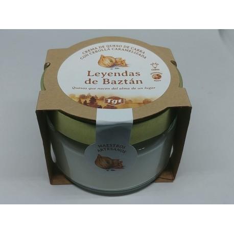 Crema de queso de cabra con cebolla caramelizada